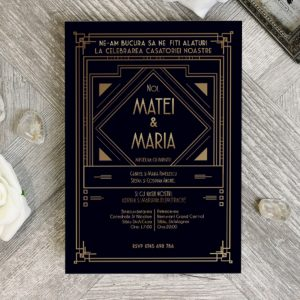Invitatie Art Deco 2 uniquecards.ro