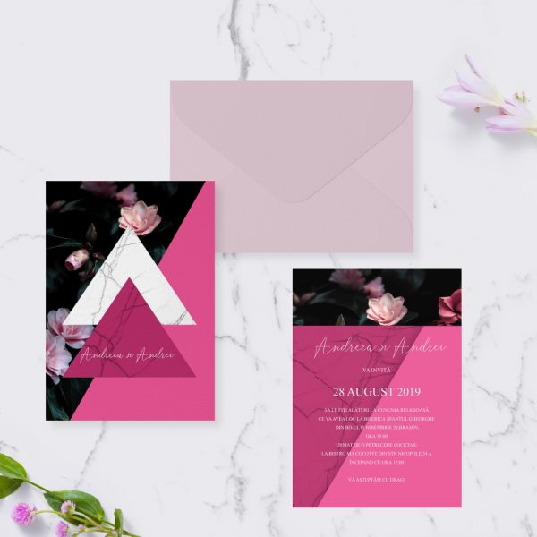 Invitatie Blooming uniquecards.ro