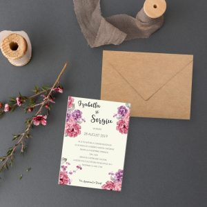 Invitatie Floral uniquecards.ro