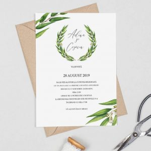 Invitatie Leaves uniquecards.ro