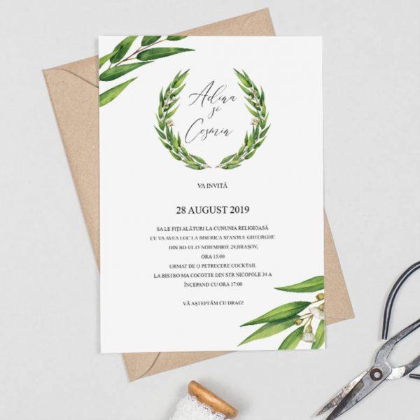 Invitatie Leaves uniquecards.ro