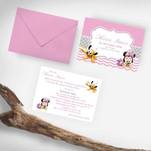 Invitatie de botez Minnie