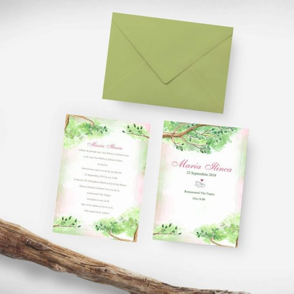 Invitatie de botez Tree