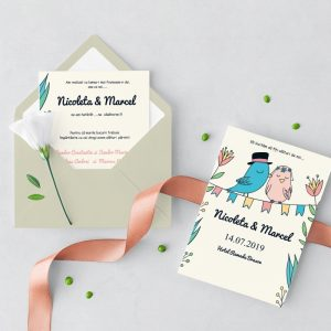 Invitatie Spring Birds uniquecards