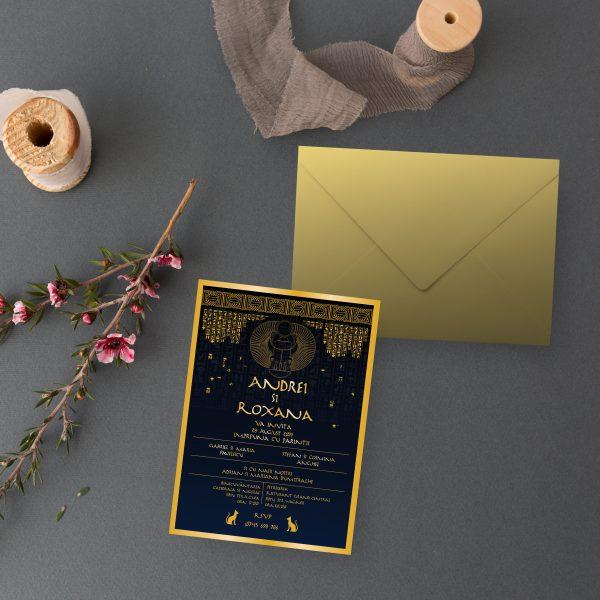 Invitatie Egipt 2 uniquecards.ro