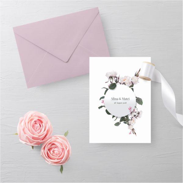 Invitatie Floral Dream uniquecards.ro