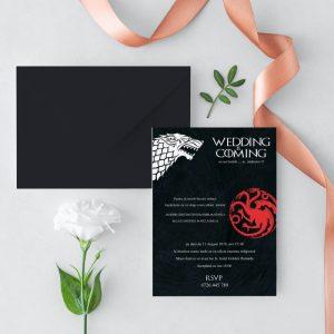 Invitatie GOT 1 uniquecards.ro