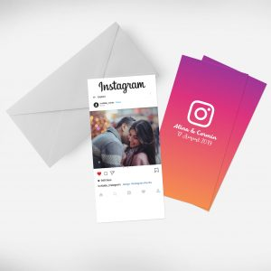 Invitatie Instagram uniquecards.ro