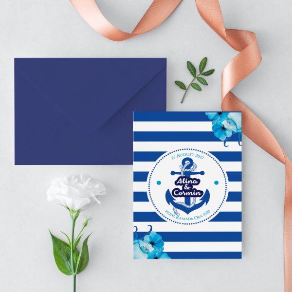 Invitatie Ocean uniquecards.ro