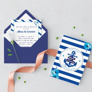Invitatie Ocean 2 uniquecards.ro