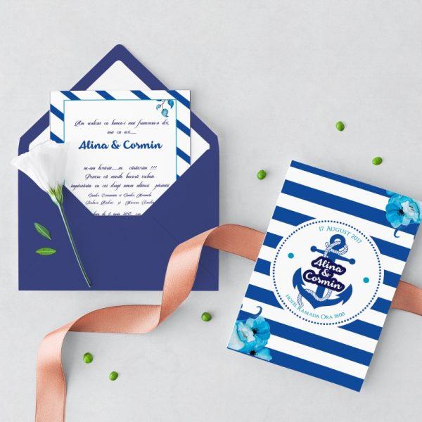 Invitatie Ocean 2 uniquecards.ro