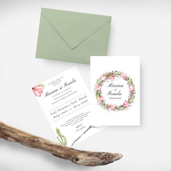 Invitatie Spring Time uniquecards.ro