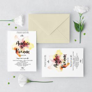 Invitatie Touch of colour 2 uniquecards.ro